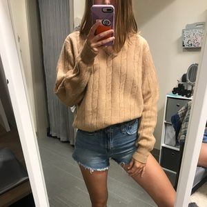 AUTHENTIC CHRISTIAN DIOR tan sweater